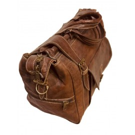 Handcrafted brown leather...