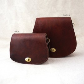Set of two brown genuine...