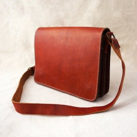 Genuine leather shoulder...