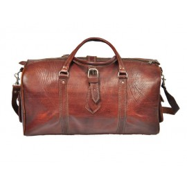 Sturdy real leather travel bag