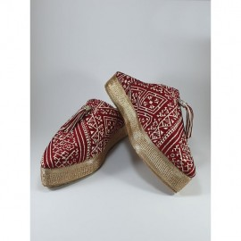 Red slippers for women...