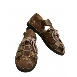 Brown sandal for men in...