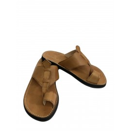 Men's brown leather sandal