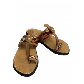 Real leather and kilim sandal