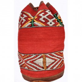 Genuine leather and Kilim backpack