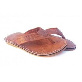 Men's brown leather sandal