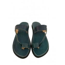 Blue genuine leather sandal