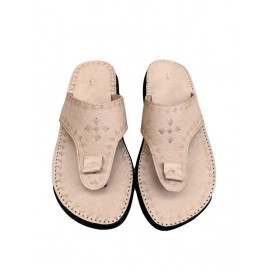 Men's sandal in real beige...