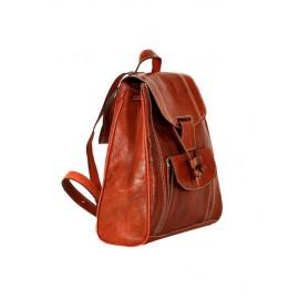 Genuine leather brown backpack