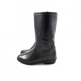 Black genuine leather boot...