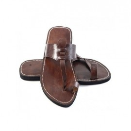 High-end handmade genuine leather sandal