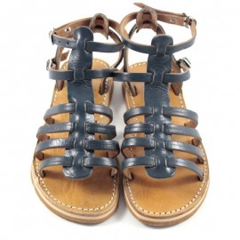 Women's real leather night blue sandal