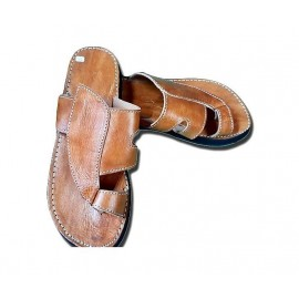 Men's flip-flops in comfortable natural leather