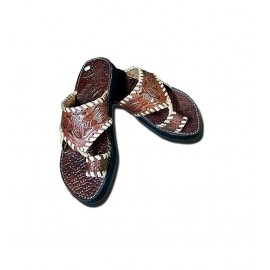 Men's leather flip flops