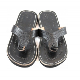 Flip flops for men genuine leather handcrafted unique style adaptable in any situation