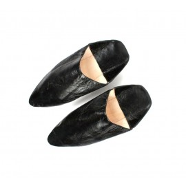Moroccan leather slipper in...