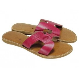 Flip flops natural leather fashion woman finish high range leather Morocco