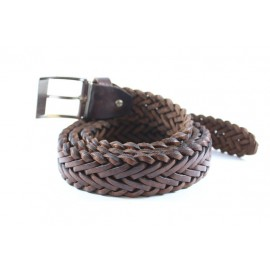 Natural leather belt
