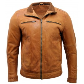 Genuine leather jacket high...