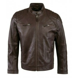 Fashion man leather jacket genuine high-end finish