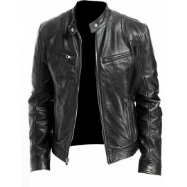 Fashion man leather jacket...