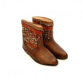 Genuine Leather Boots with...