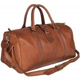 Elegante y deportivo bolso de viaje para todas las ocasiones marrón.