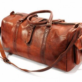 genuine leather travel bag for all occasions brown
