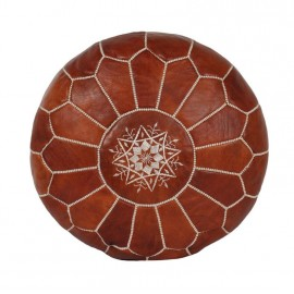 Morocco leather pouf real...