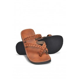 Natural leather sandals