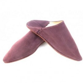 Suede babouche