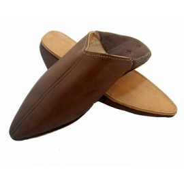 pointed babouche in leather