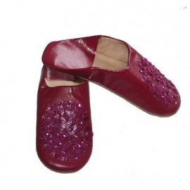 genuine leather slipper