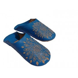 Embroidered leather slippers