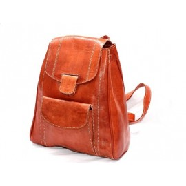 Morocco natural leather backpack