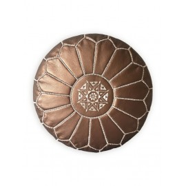 Pouffe in genuine leather