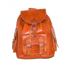 backpack in real leather...