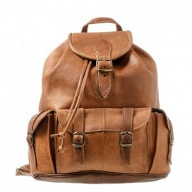 Backpack in genuine leather Royal tobacco