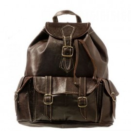 Backpack in genuine leather...