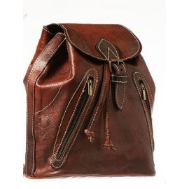 Genuine braided royal leather backpack
