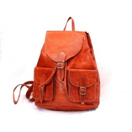 backpack in real leather craft Morocco