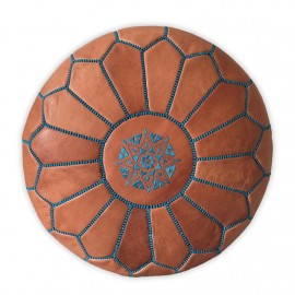 Genuine leather pouf for...