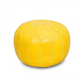 Pouffe in genuine yellow...