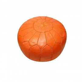 Pouffe in genuine leather...