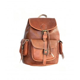 Handmade real leather backpack