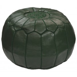 Large green pouf in real...