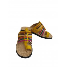 Woman's yellow leather sandal