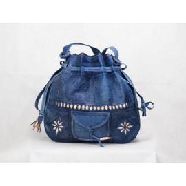 Genuine Leather Backpack Blue